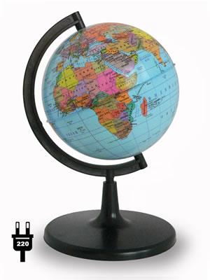 Глобус Земли политический (диаметр 150 мм, с подсветкой)