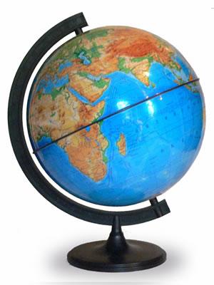 Глобус Земли физический (диаметр 320 мм)