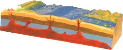 """Модель """"Строение рельефа морского дна"""""""