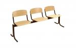 Блок стульев 3-х местный. Неоткидные сиденья, жесткие.