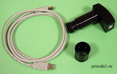 Видеоокуляр с программным обеспечением к микроскопам
