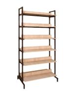 Шкаф-стеллаж двухсторонний на металлокаркасе