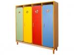 Шкаф детской одежды четырехместный