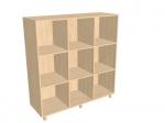 Шкаф – стеллаж «Мозаика» трехсекционный, без дверок