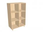Шкаф – стеллаж «Мозаика» двухсекционный, без дверок