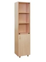 Шкаф для учебных пособий узкий со стеклом