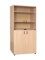 Шкаф секционный для учебных пособий со стеклянными дверями