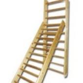 Лестница деревянная с зацепами