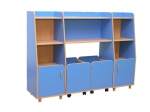 Комплект шкафов для игрушек и пособий «Василек-4»