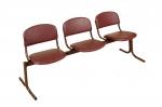 Блок стульев 3-х местный. Откидные сиденья.