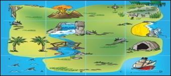 Коврик «Остров Сокровищ» для мини-робота Bee-Bot