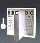 Таблица для определения остроты зрения, помещенная в аппарат Ротта