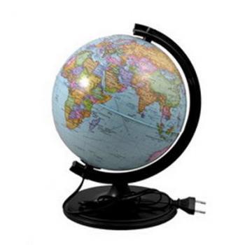 Глобус Земли физический (диаметр 320 мм, с подсветкой)