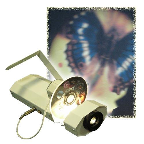 Проектор светоэффектов с ротатором колес