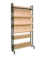 Шкаф-стеллаж комбинированный 3 наклонные и 3 горизонтальные полки