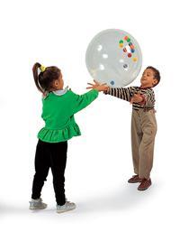 Шары-мячи прозрачные, с наполнителями