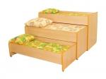 Кровать трехуровневая раздвижная (спальное место 1400х600)